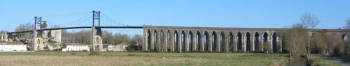 Pont suspendu de Tonnay-Charente (17)
